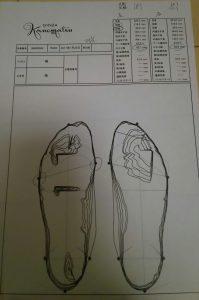 銀座かねまつ-足のサイズ測定結果